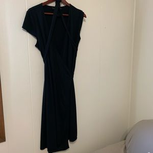 The Limited Black Wrap Dress